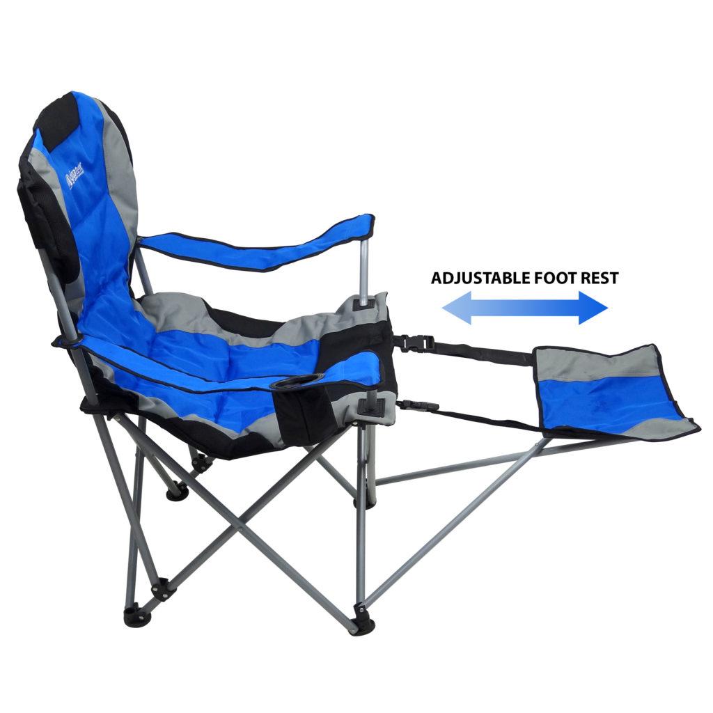 Pleasing Gigatent Ergonomic Portable Footrest Camping Chair Blue Theyellowbook Wood Chair Design Ideas Theyellowbookinfo